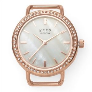 Keep Collective Rose Gold Pave Time Key Watch